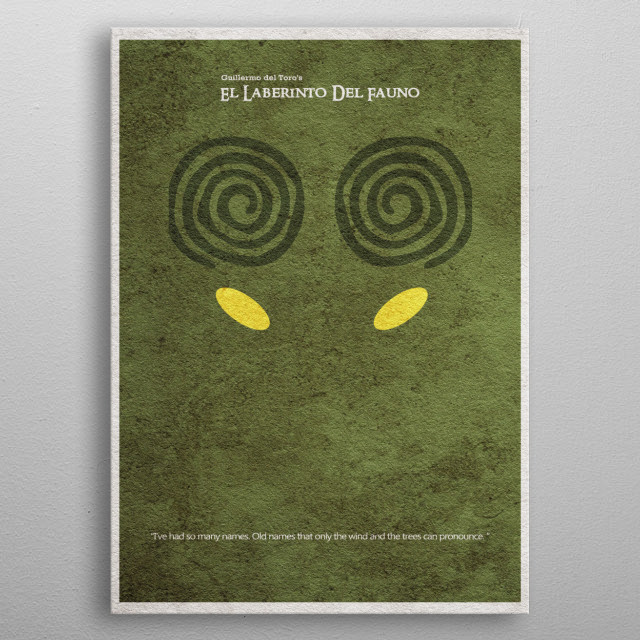 pan s labyrinth minimal alte by popculart metal posters