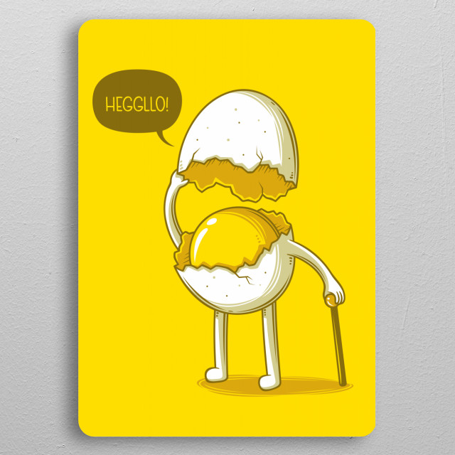 Heggllo! pocket-size metal print from Black box