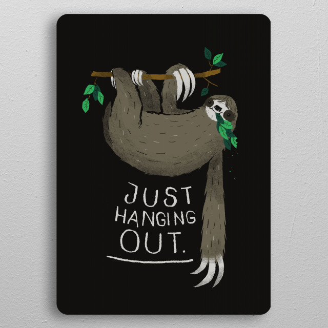 just hanging out pocket-size metal print from Black box