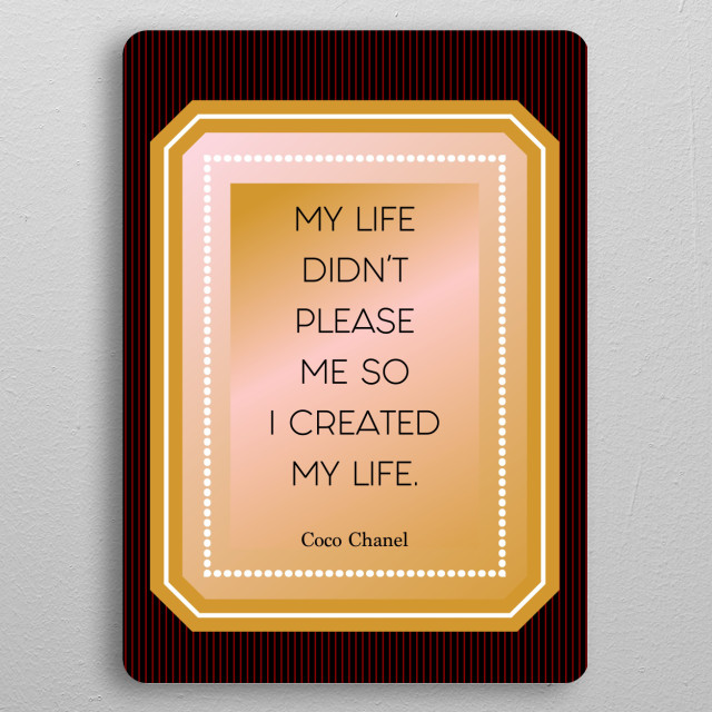 Coco quote 1  pocket-size metal print from Black box