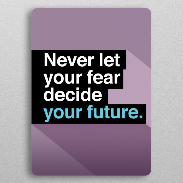Uplifting quote 1 pocket-size metal print from Black box