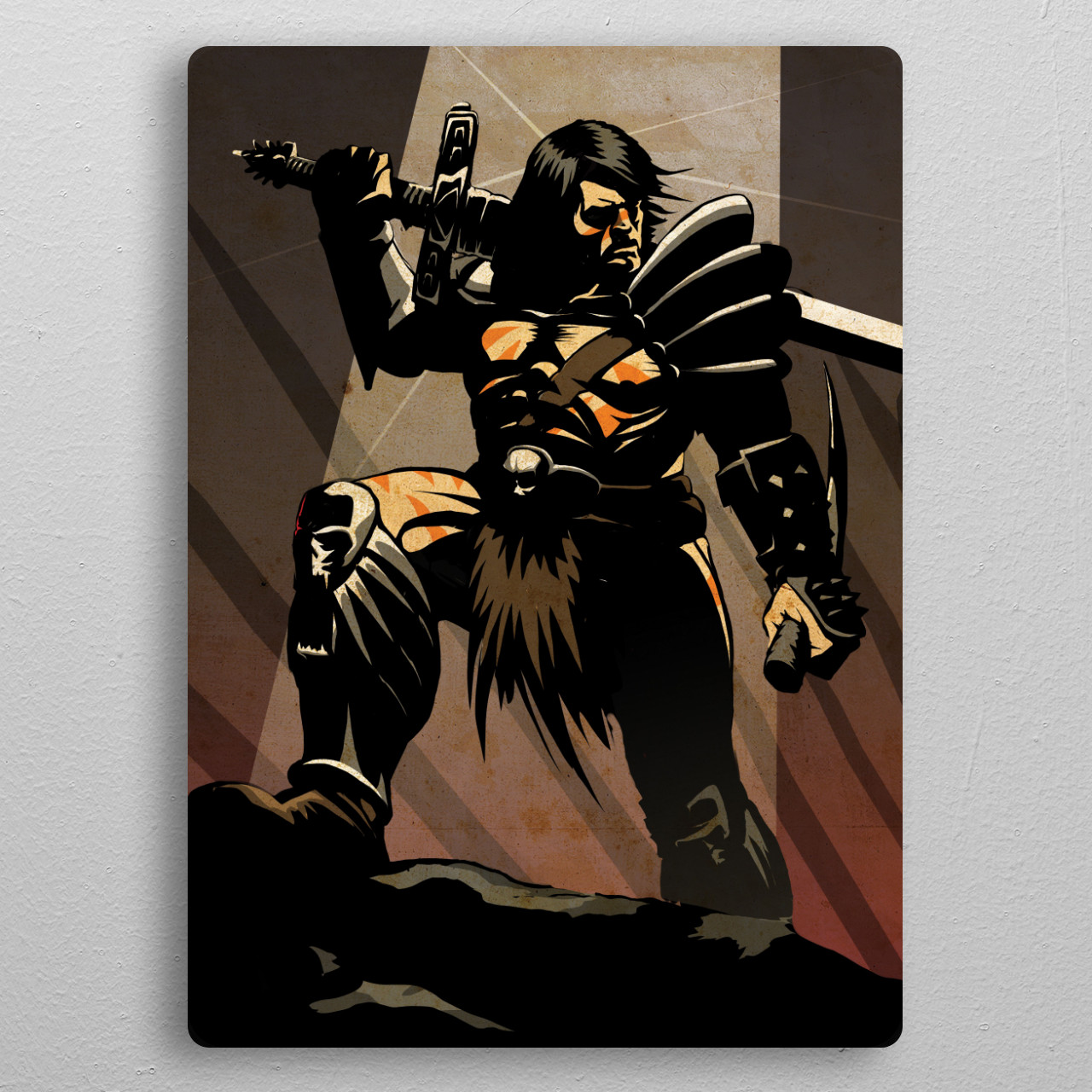 The Barbarian pocket-size metal print from Black box