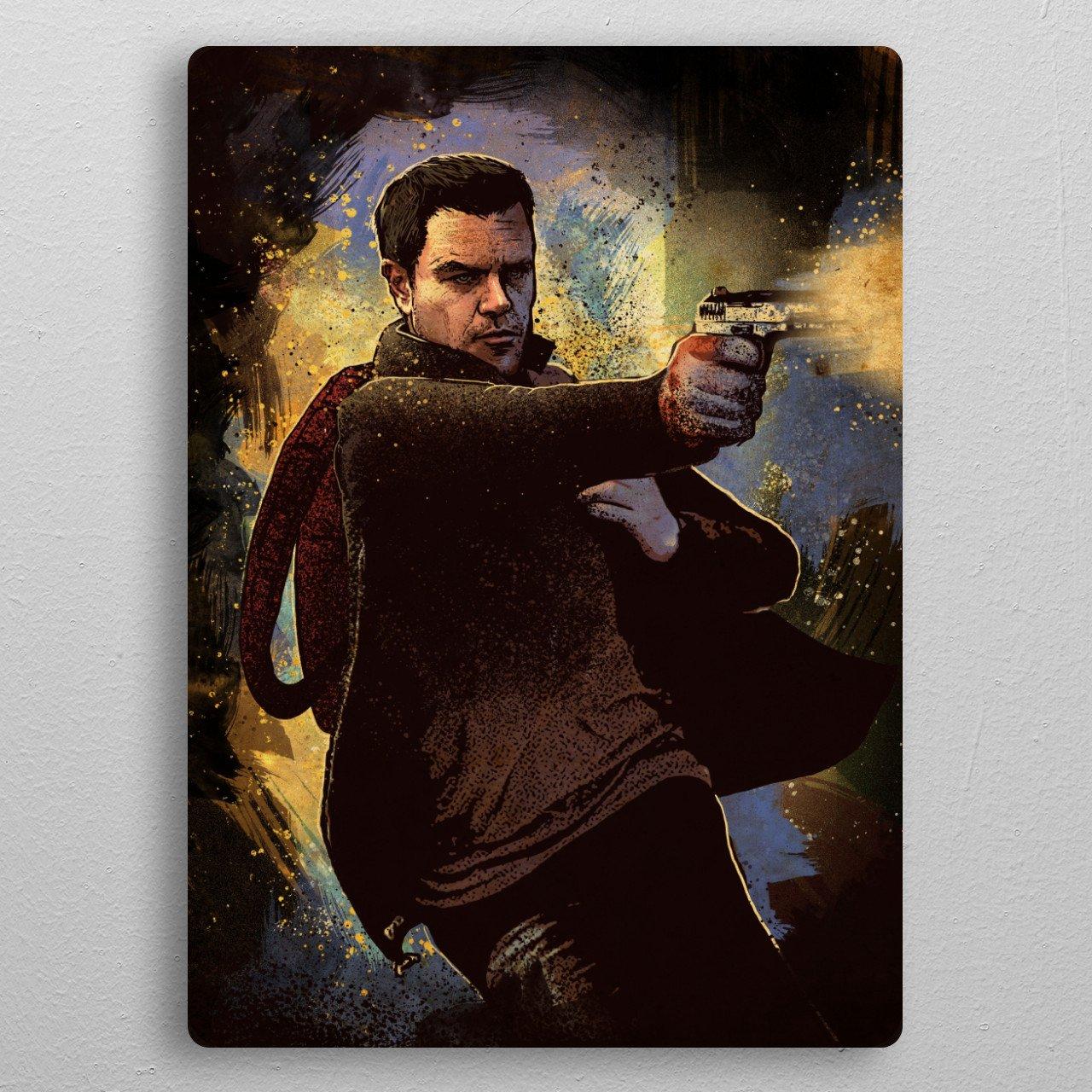 Jason Bourne pocket-size metal print from Black box