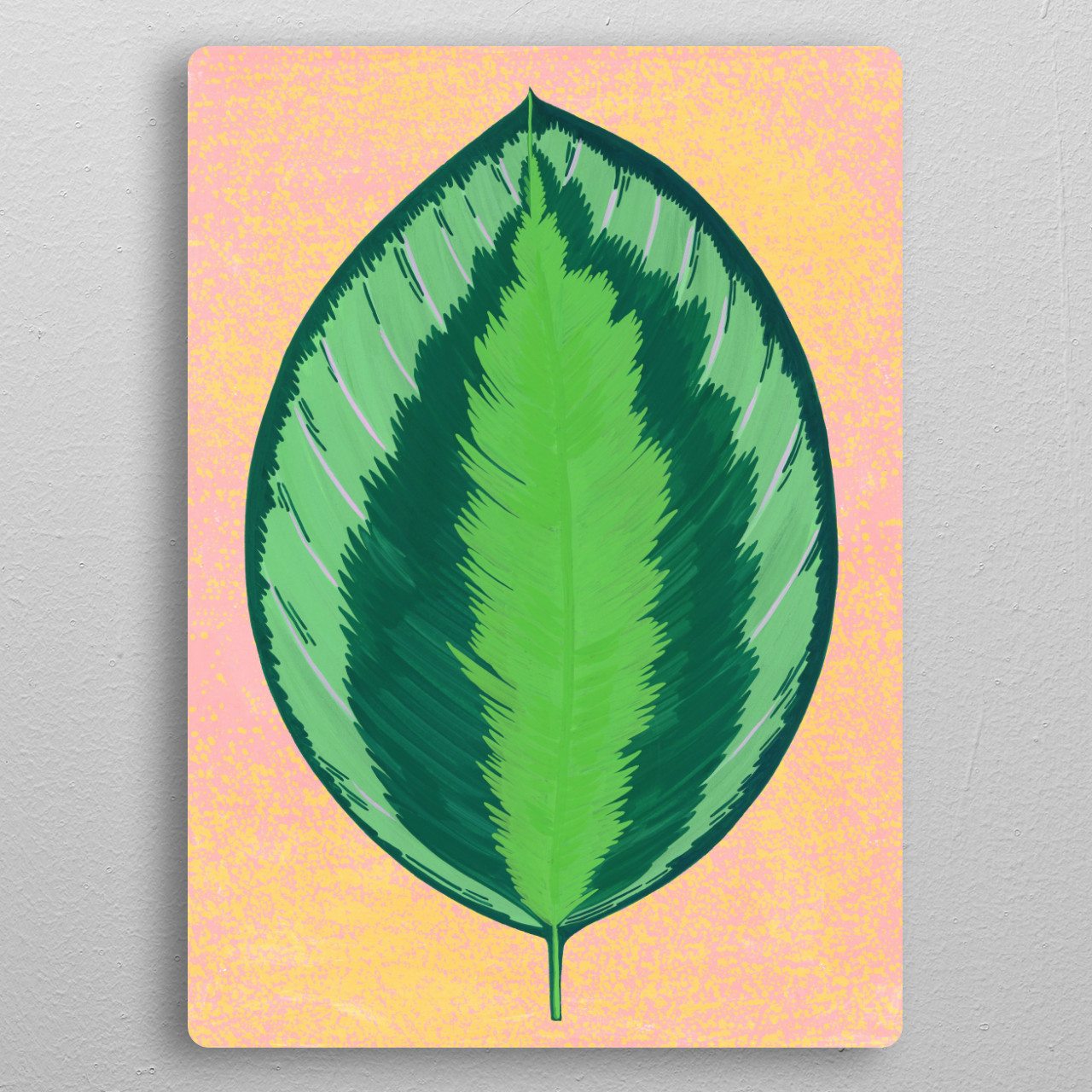 tropical leaf pocket-size metal print from Black box