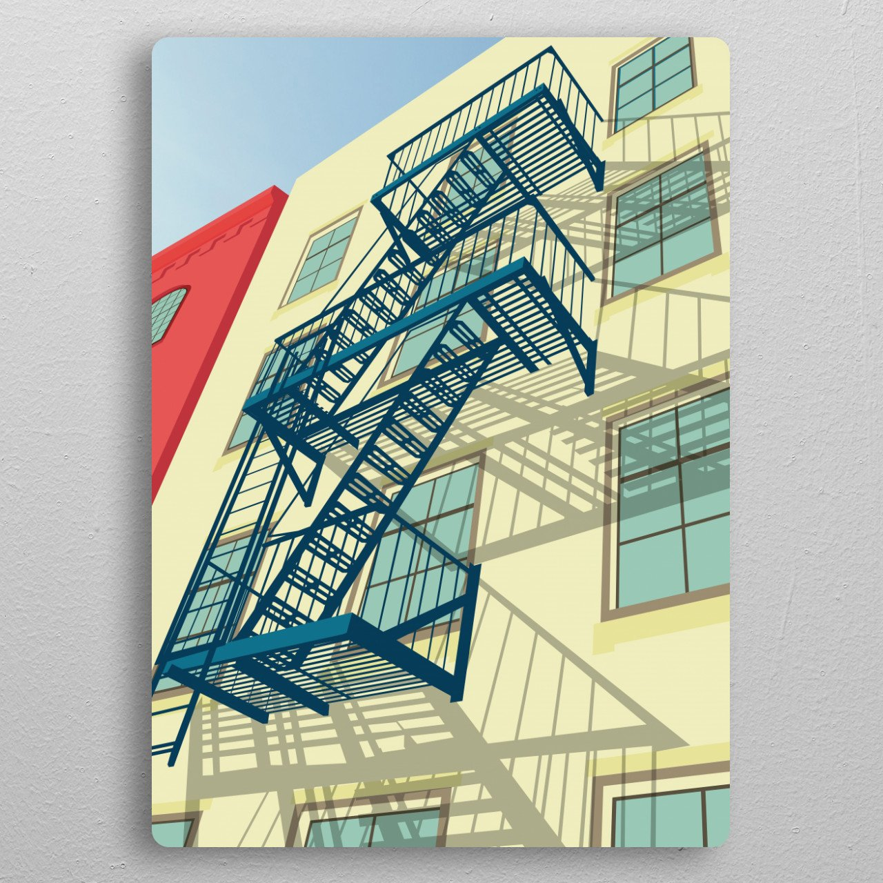 Greenwich village NYC pocket-size metal print from Black box