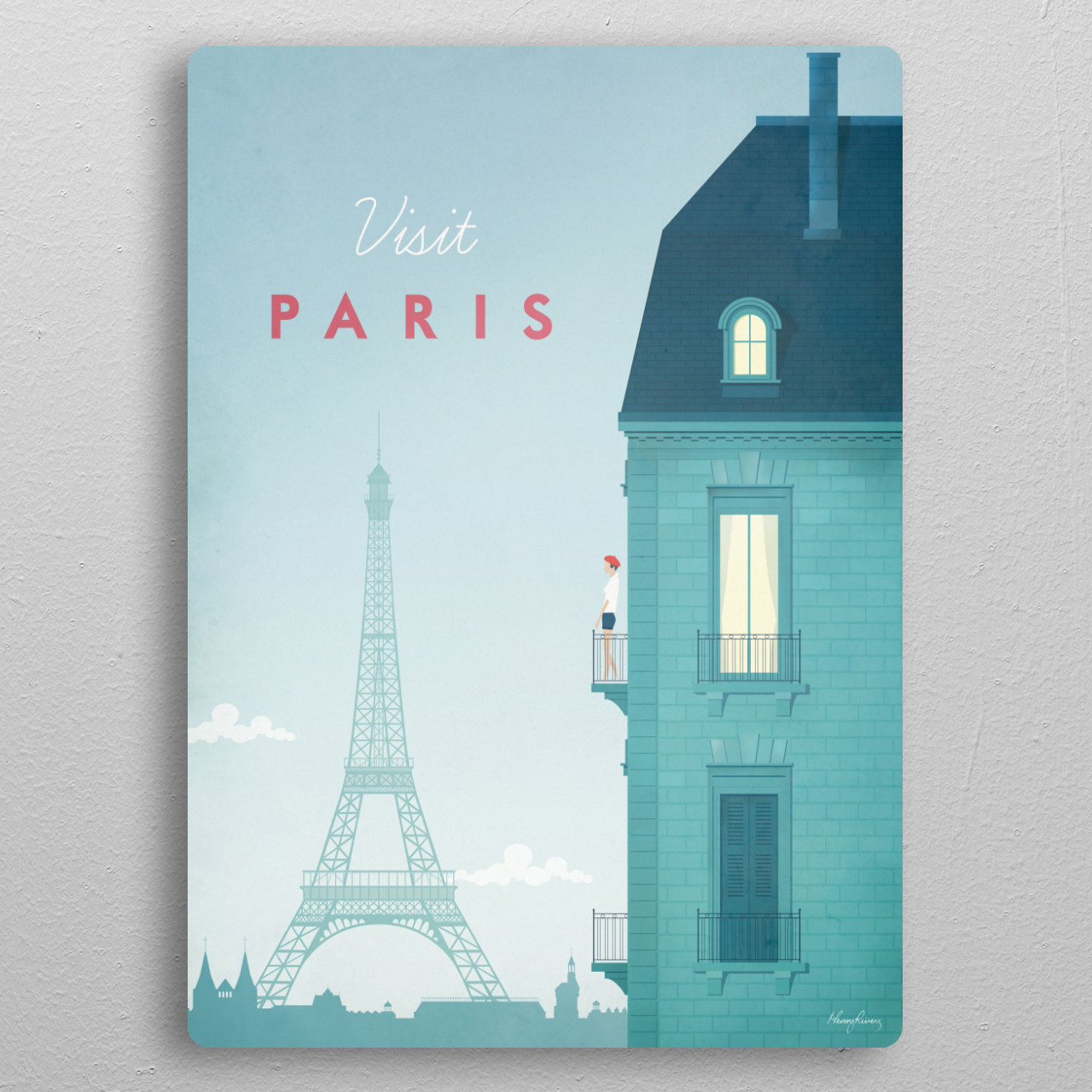 Paris pocket-size metal print from Black box