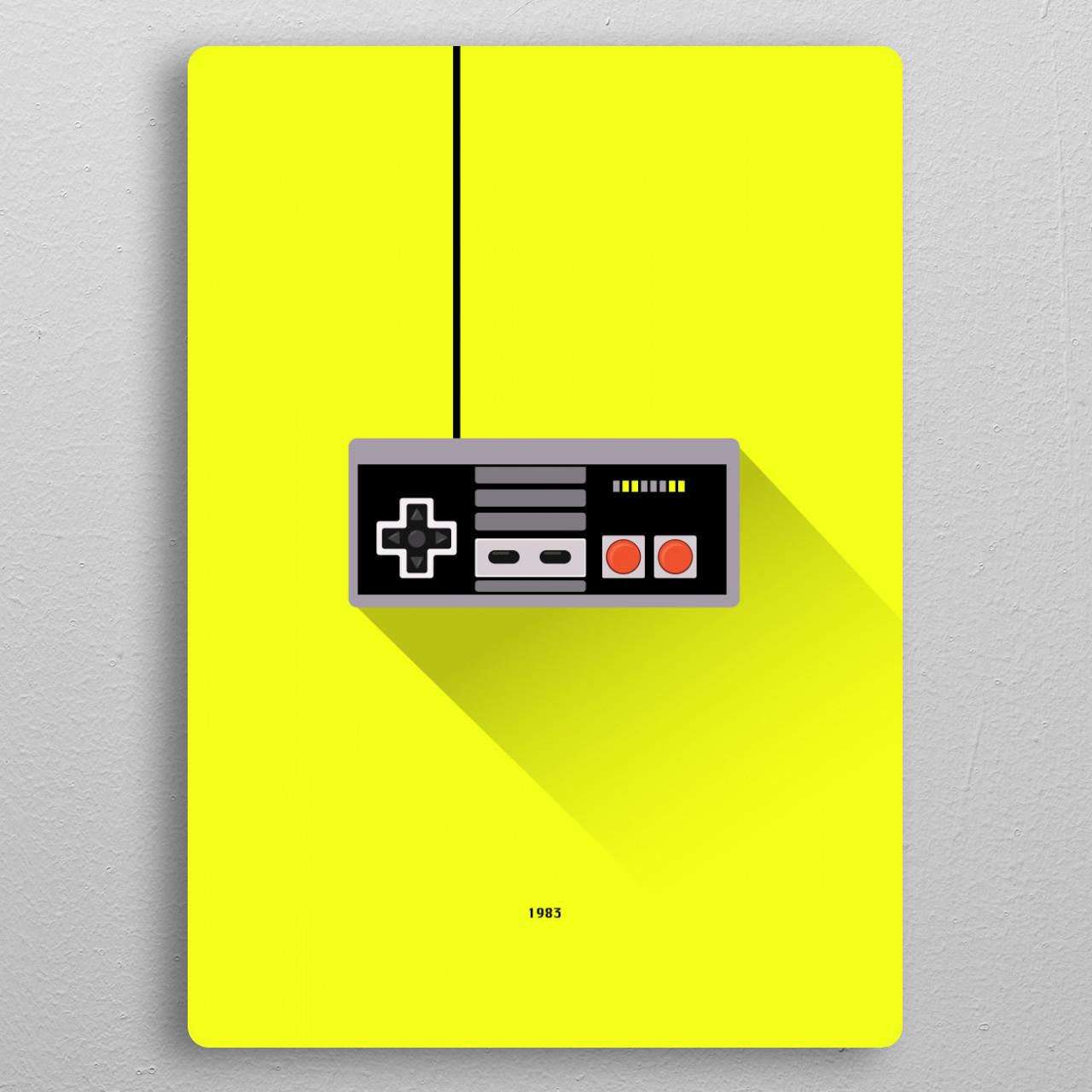 NES pocket-size metal print from Black box