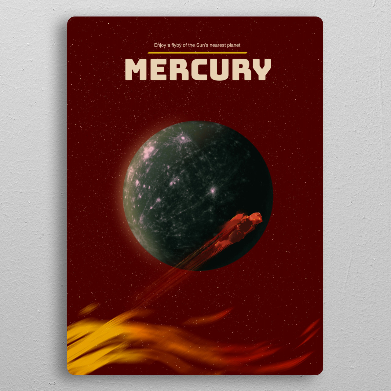 Mercury pocket-size metal print from Black box