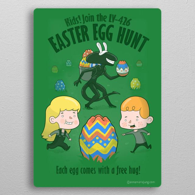 A Xenomorph Easter metal poster