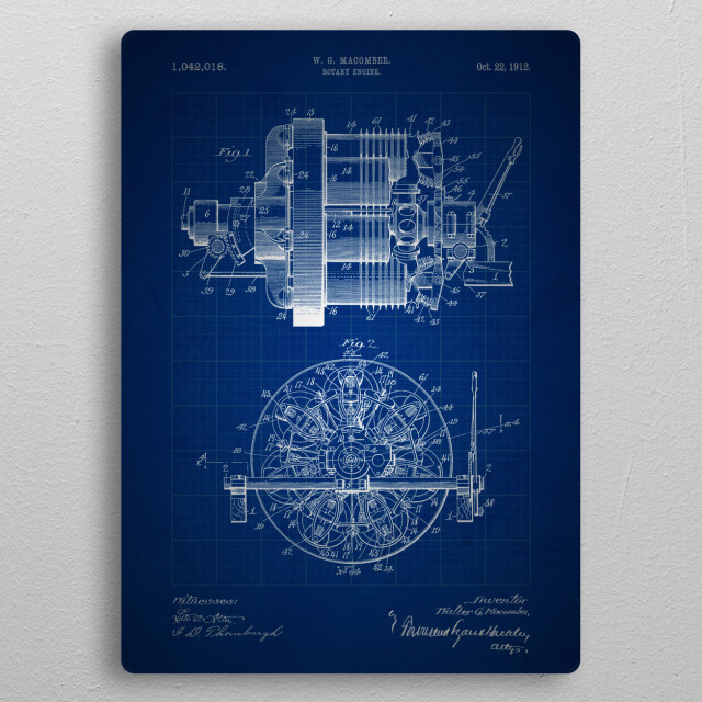 Rotary engine 1042018 by by nerdiful art displate rotary engine 1042018 by wg macomber 1912 metal poster malvernweather Images