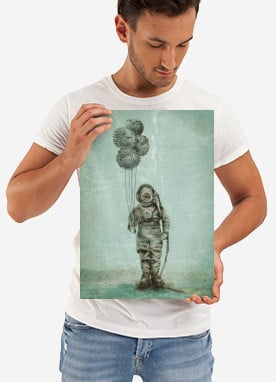 fish sea vintage diver ocean balloon party funny surreal puffer