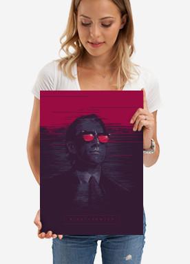 nightcrawler movie film jake gillenhal blue red pink magenta poster alternative illustration man thriller