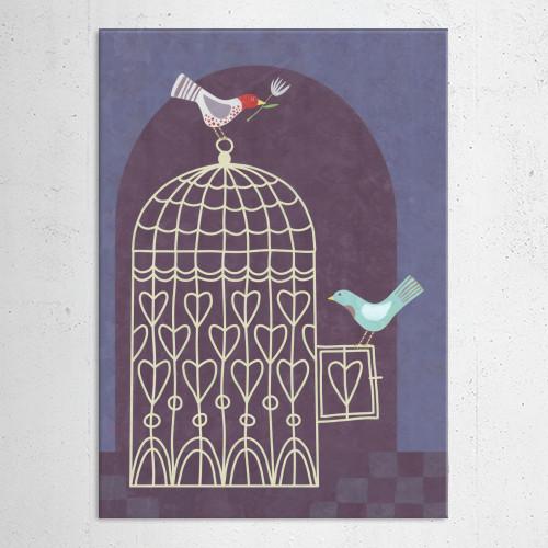 bird birds cage birdcage purple freedom love help friendship escape hope optimism Animals