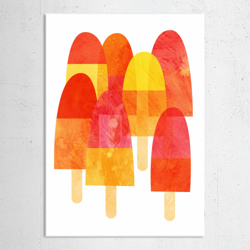 ice lollies ices summer happy bright painting art illustration holiday cool cold fruity print color Illustration