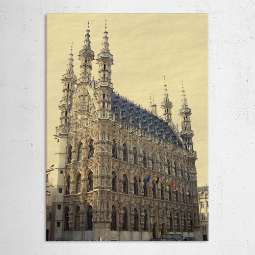 gothic medieval townhall belgium louvain building town city hall Architecture