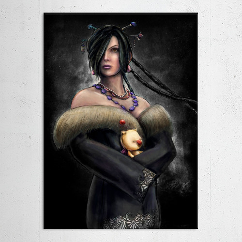 lulu ffx final fantasy finalfantasy10 black mage woman painting spira playstation moogle square Gaming