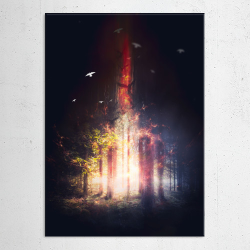 alley autumn dark darkness day empty evil fall fantasy fog foggy footpath forest grass hazy horror Landscape