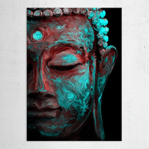 buddha neon psychedelic colours cool spiritual peaceful god calm relax meditation peace enlightement Paintings