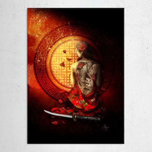 memories geisha katana Illustration