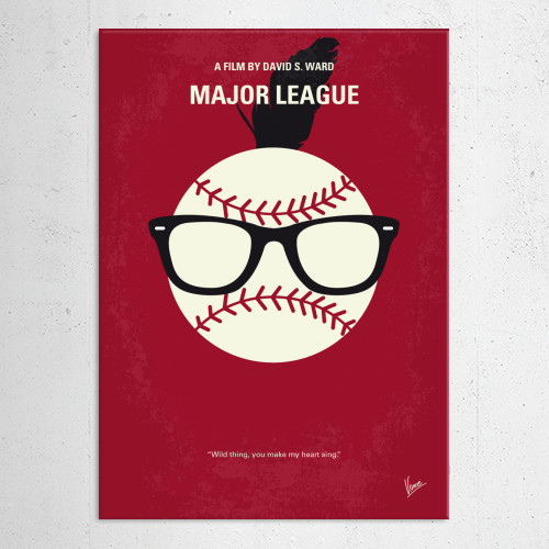 major league cleveland indians baseball club charlie sheen wild thing minimal minimalism minimalist movie poster film artwork graphic design chungkong inspired Movies & TV