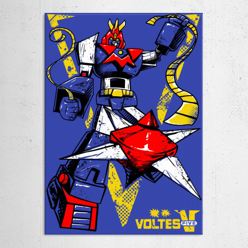 Voltes V Cartoon Characters : Super electromagnetic machine by vp trinidad displate