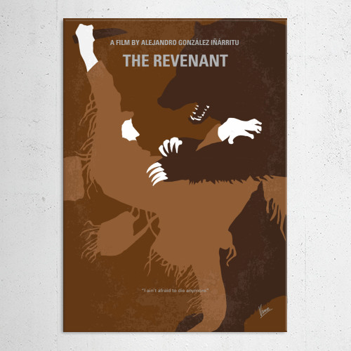 revenant survival dicaprio expedition frontiersman bear hunting team glass winter american wilderness minimal minimalism minimalist movie poster graphic design chungkong style quote inspired 1820s oscar Movies & TV