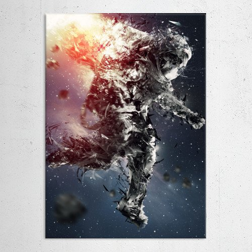 astronaut space traveller cosmos blast fire gravity stars galaxy nebula color meteor blackhole chaos skull astro Other