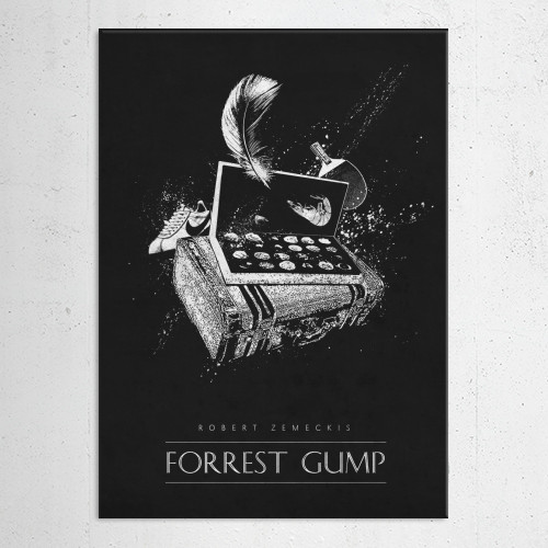 gump robert zemeckis classic movies posters black white films Movies & TV