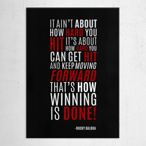 rocky balboa winning inspirational quotes Movies & TV