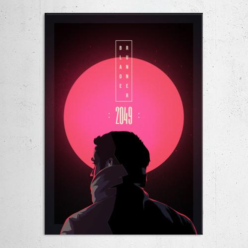 blade runner 2049 scott gosling ford movie schifi 2017 alternative film poster series glitch neon Movies & TV