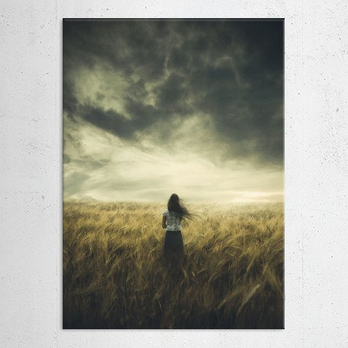 photomanipulation photography field digital girl sister weather 2010 life worries black hair skirt filipino asian sky grass of gold love thoughts Photography
