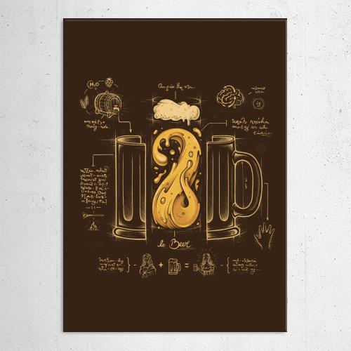 beer diagram davinci Vintage