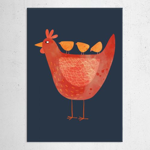hen chick chicken easter farm animal animals farmyard cute humor funny kitchen decor Animals