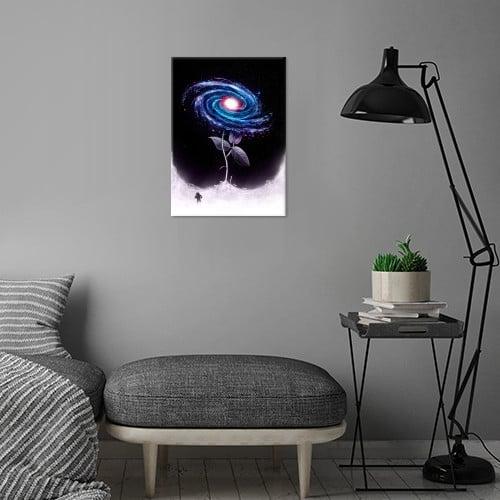 space flower stars astronaut grow plant nature Illustration