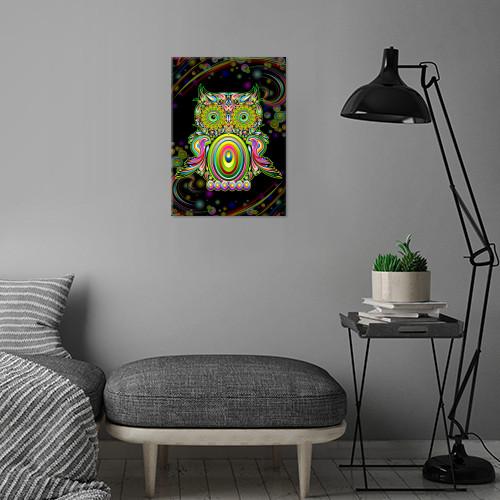 owl psychedelic doodle bird animal popart surreal digital graphicart fantasy rainbowcolors swirls Animals