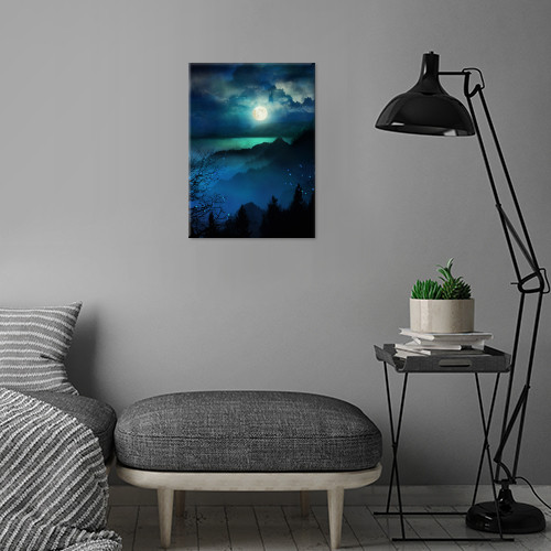 landscape illustration nature love moon fineart Landscape