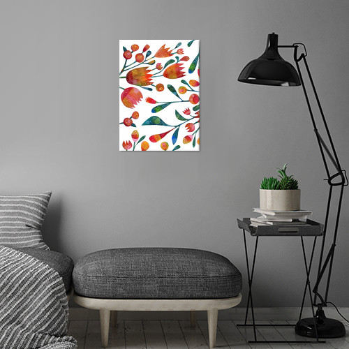 plants flowers floral leaves painting painted art design illustration squirrell nicsquirrell buds Paintings