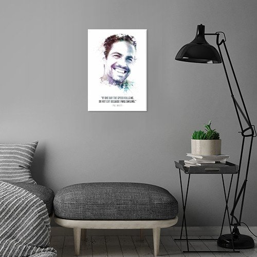 paul walker legendary legend icon movie movies actor fast furious rip quote water color black white splatter painted texture swav cembrzynski Celebrities