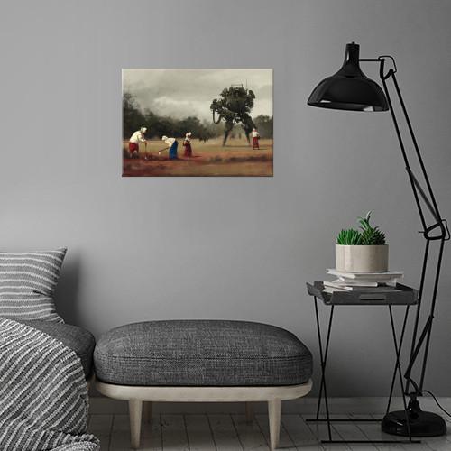 harvest scythe gameart mech storytelling painting conceptart countryside Illustration