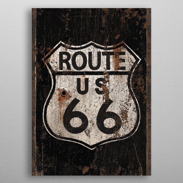 Route 66 metal poster