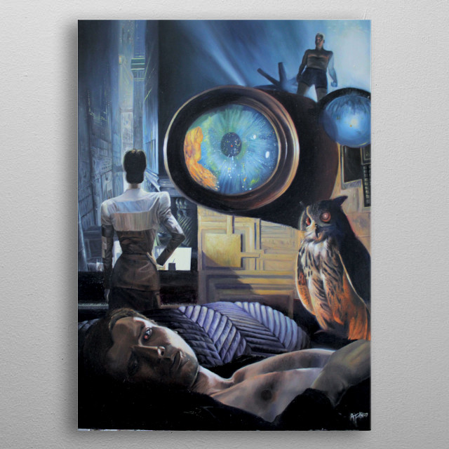 """Alessandro Fantini - """"Memories of dreams (25th anniversary of """"Blade Runner""""), oil on canvas, 50x70 cm. , (2007) Exhibited at the London Brick Lane Gallery few days after completion. metal poster"""