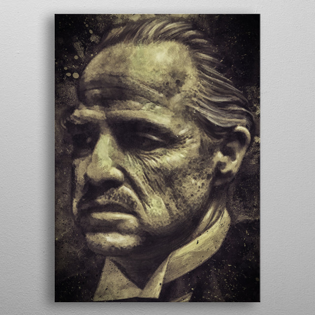 Don Corleone metal poster