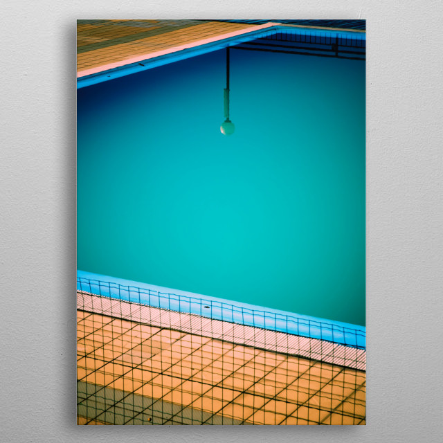 Lamp reflection in swimming-po... by Silvia Ganora | metal ...