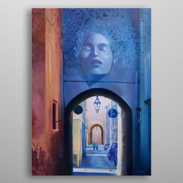 Alessandro Fantini, Psyches peirata, oil on canvas, 50x70cm., 2010 metal poster