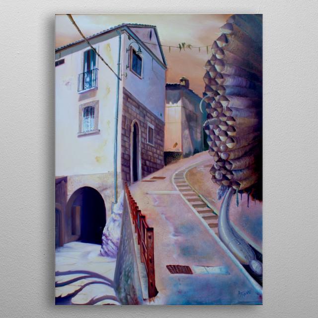 "Alessandro Fantini - ""Mulungu"", oil on canvas, 50x70, 2008 metal poster"