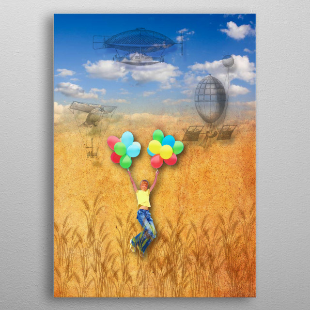 There is nothing as precious as childhood dreams. Sometimes they take the shape of daydreams. metal poster