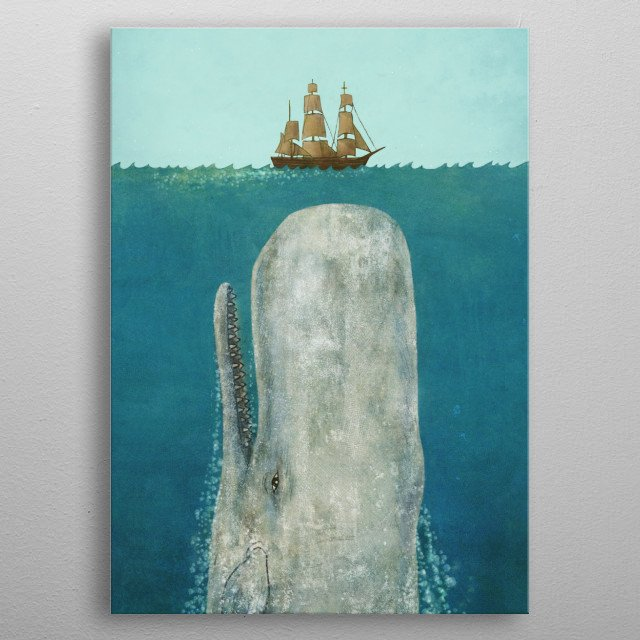 The Whale metal poster