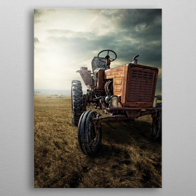 Field Commander - this is tractor name. metal poster