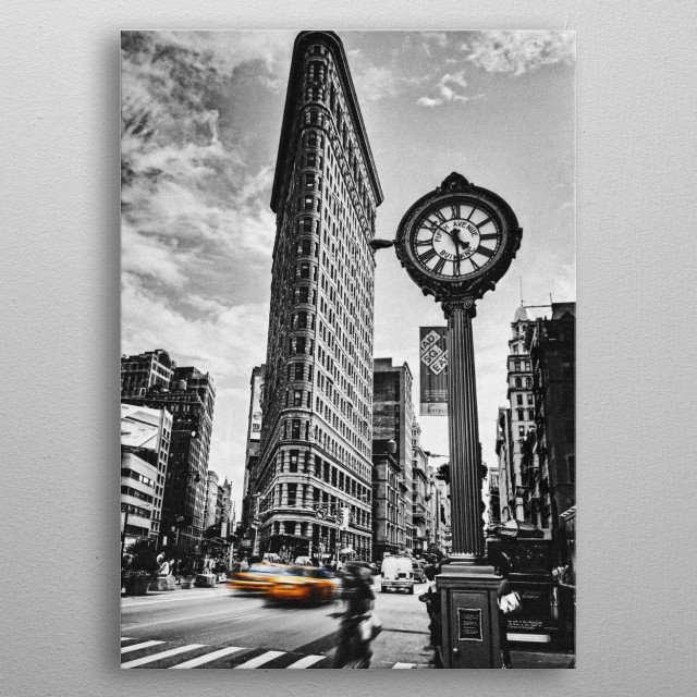 The Flatiron Building, NYC  Canon 7D 18 – 55, 58mm metal poster