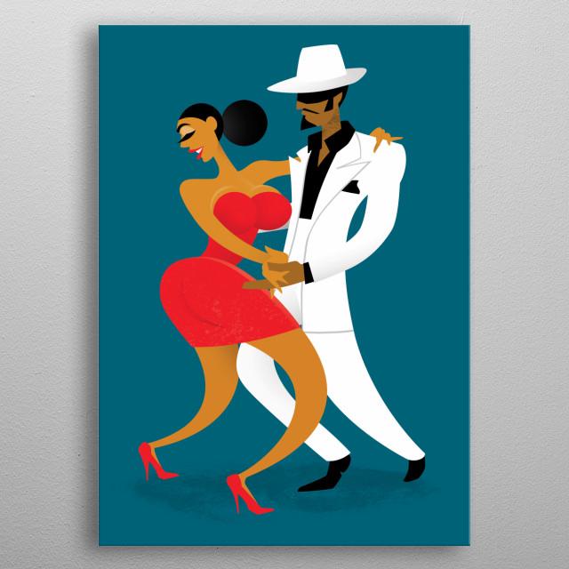 Last Tango in Cuba metal poster